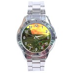 Eddie s Sunset Stainless Steel Analogue Watch
