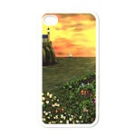 Eddie s Sunset iPhone 4 Case (White)