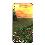 Eddie s Sunset iPhone 4/4s Seamless Case (Black)