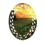 Eddie s Sunset Oval Filigree Ornament (Two Sides)