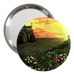 Eddie s Sunset 3  Handbag Mirror