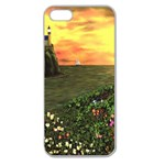 Eddie s Sunset Apple Seamless iPhone 5 Case (Clear)