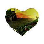Eddie s Sunset Standard 16  Premium Heart Shape Cushion