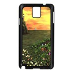 Eddie s Sunset Samsung Galaxy Note 3 N9005 Case (Black)