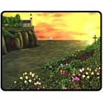 Eddie s Sunset Double Sided Fleece Blanket (Medium)