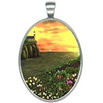 Eddie s Sunset Oval Necklace