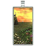 Eddie s Sunset Rectangle Necklace