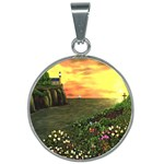 Eddie s Sunset 25mm Round Necklace
