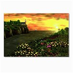 Eddie s Sunset  By Ave Hurley   Square (2) Eddie s Sunset By Ave Hurley   [stretched] Postcard 4 x 6  (Pkg of 10)