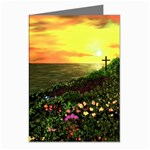 Eddie s Sunset  By Ave Hurley   Square (2) Eddie s Sunset By Ave Hurley   [stretched] Greeting Cards (Pkg of 8)