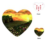 Eddie s Sunset  By Ave Hurley   Square (2) Eddie s Sunset By Ave Hurley   [stretched] Playing Cards Single Design (Heart)