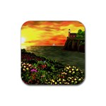 Eileen s Sunset Rubber Coaster (Square)