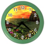 Eileen s Sunset Color Wall Clock
