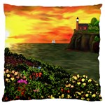 Eileen s Sunset Large Flano Cushion Case (Two Sides)