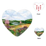 Katy s Pasture  Playing Cards Single Design (Heart)