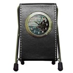 Masons s Point Pen Holder Desk Clock