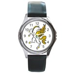 Pegasus Round Metal Watch