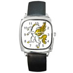Pegasus Square Metal Watch