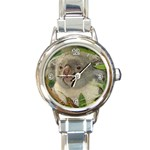 Koala Bear Round Italian Charm Watch