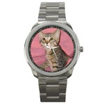 Adorable Kitten Sport Metal Watch