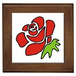 Artistic Red Rose Framed Tile