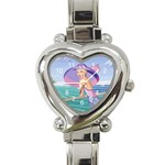 Palm Beach Purple Heart Italian Charm Watch