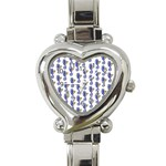 Seahorses Heart Italian Charm Watch