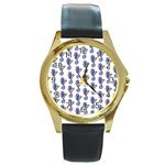 Seahorses Jewelry Round Gold Metal Watch
