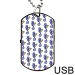 Seahorses Jewelry Dog Tag USB Flash (One Side)