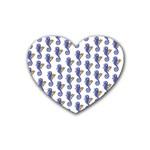 Seahorses Housewares Rubber Coaster (Heart)