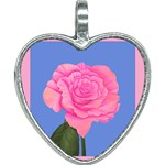 Roses Womens Fashion Heart Necklace