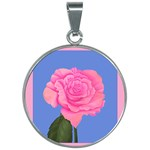 Roses Womens Fashion 30mm Round Necklace