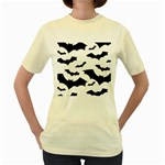 Deathrock Bats Women s Yellow T-Shirt
