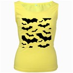Deathrock Bats Women s Yellow Tank Top