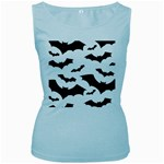 Deathrock Bats Women s Baby Blue Tank Top