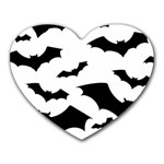 Deathrock Bats Heart Mousepad