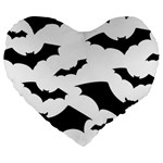 Deathrock Bats Large 19  Premium Heart Shape Cushion