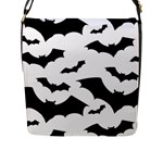 Deathrock Bats Flap Closure Messenger Bag (L)