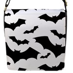 Deathrock Bats Flap Closure Messenger Bag (S)