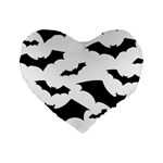 Deathrock Bats Standard 16  Premium Flano Heart Shape Cushion