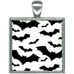 Deathrock Bats Square Necklace