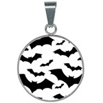 Deathrock Bats 25mm Round Necklace