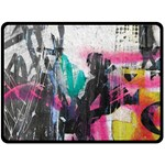 Graffiti Grunge Fleece Blanket (Large)