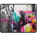 Graffiti Grunge Double Sided Fleece Blanket (Medium)