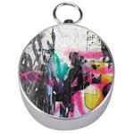 Graffiti Grunge Silver Compass