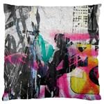Graffiti Grunge Large Flano Cushion Case (Two Sides)