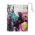 Graffiti Grunge Drawstring Pouch (XL)