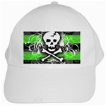 Deathrock Skull White Cap