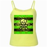 Deathrock Skull Yellow Spaghetti Tank