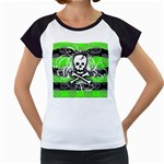 Deathrock Skull Women s Cap Sleeve T